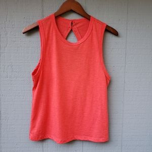 Joe's Jeans Collection Coral Keyhole Back Tank XS